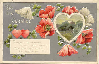 Primary image for I Never Loved Before Vintage Valentine Post Card