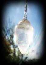 Mount Shasta Vortex Charged Quartz Crystal Pendulum Reiki Healing Psychi... - $49.00