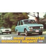 1966/1967 DATSUN RL 411 Sport Sedan brochure folder 1600 Nissan Bluebird... - $10.00