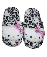 HELLO KITTY SANRIO White Leopard Plush Slippers... - $19.99