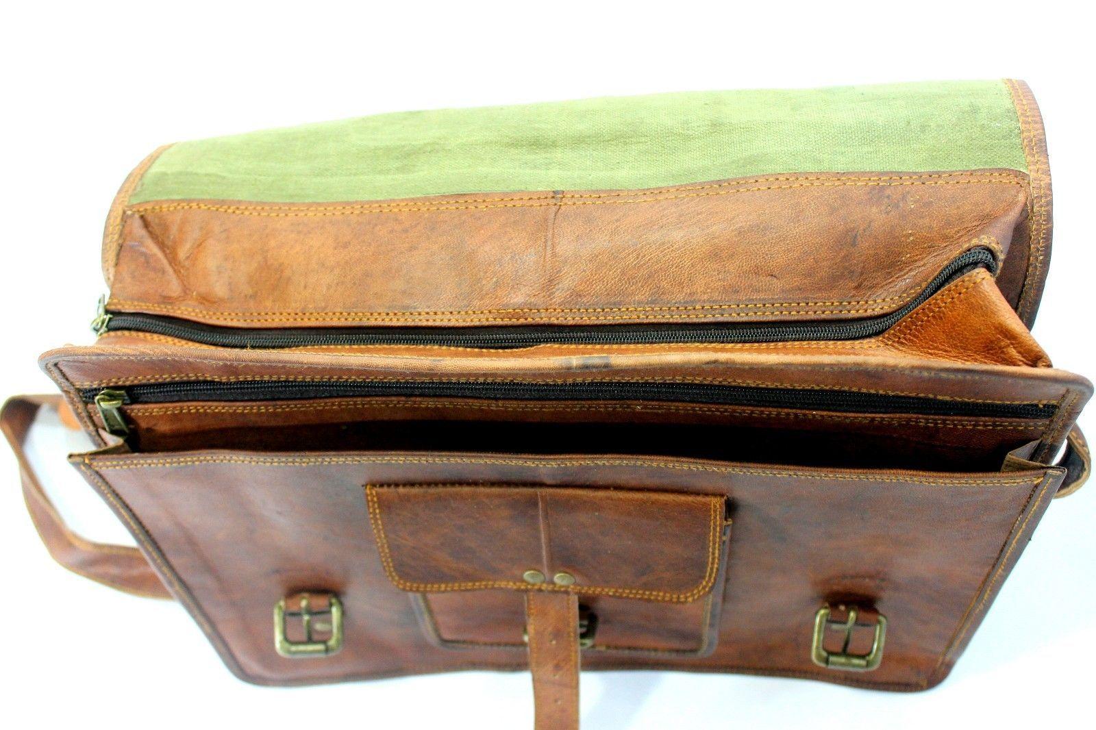 mens leather messenger brown shoulder briefcase bag  | Leather messenger bag | image 7