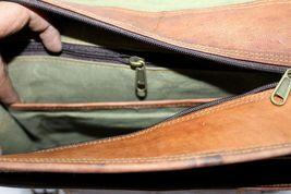 mens leather messenger brown shoulder briefcase bag  | Leather messenger bag | image 9
