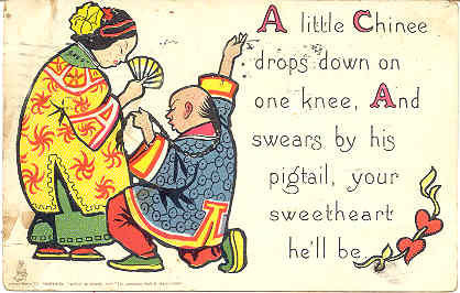 Primary image for A Chinese Sweetheart Vintage 1921 Tucks and Sons Post Card