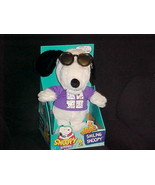"""13"""" Laughing Smiling Snoopy Plush Toy With Movable Shades Mint & Box Has... - $46.74"""