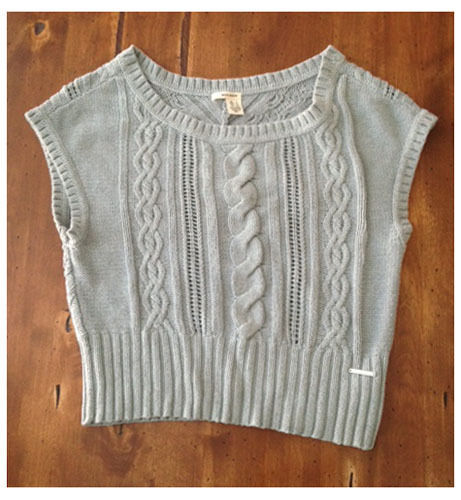 Primary image for DKNY Gray Sleeveless Oversize Fit Sweater Large L Cotton Acrylic