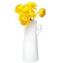 Chive - Hoot, Porcelain Flower Vase, with Owl Decoration, Bouquet Size [Kitchen]