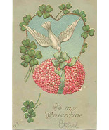 Love To My Valentine Vintage Post Card - $6.00