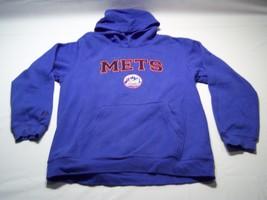 Majestic Long Sleeve NY Mets Baseball Team Hoodie  Men's Size L - $24.74