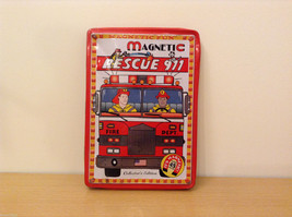 Magnetic Rescue 911 Fire Fighters Police Sticker Fun Game Toy Lee Publications
