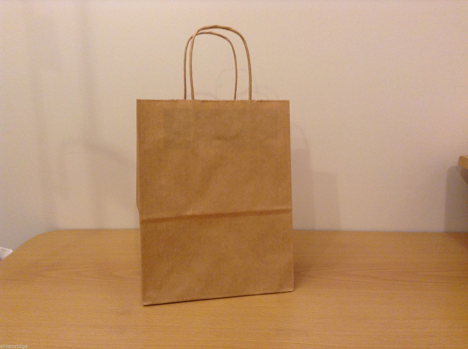 Lot of 230 Brown Shopper Craft Bags 8x10x4 Cub Uline, New unused