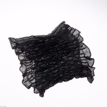 Black Lurex Infinity Scarf with Metallic Highlights NEW image 3