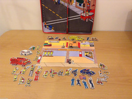 Magnetic Rescue 911 Fire Fighters Police Sticker Fun Game Toy Lee Publications image 4
