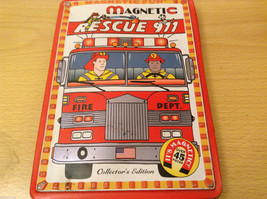 Magnetic Rescue 911 Fire Fighters Police Sticker Fun Game Toy Lee Publications image 3