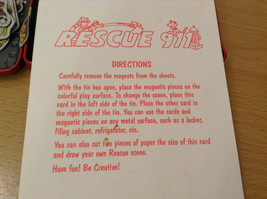 Magnetic Rescue 911 Fire Fighters Police Sticker Fun Game Toy Lee Publications image 12