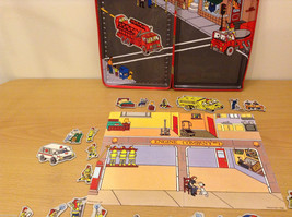 Magnetic Rescue 911 Fire Fighters Police Sticker Fun Game Toy Lee Publications image 9