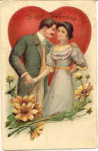 To My Valentine Vintage 1908 Post Card - $7.00