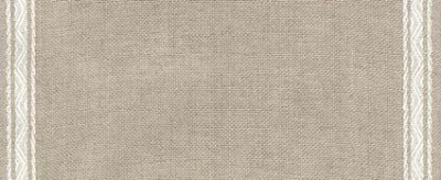 "Primary image for 27ct Pyramid Natural/White banding 7.8""w x 36"" 100% linen (1yd) Mill Hill"