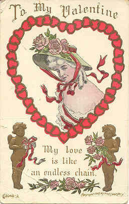 Primary image for To My Valentine Vintage 1911 Cupids Post Card