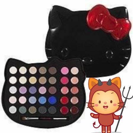Hello kitty eye makeup