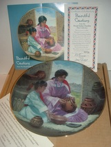 1993 Beautiful Creations Proud Indian Families Plate w/ COA - $12.99