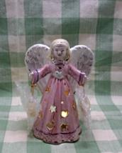 Angel Votive Candle Holder // Celestrial Christmas Angel // Pink Christmas Angel - $12.00