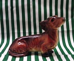 Vintage German Dachshund Figurine Dog Figurine Weiner Dog Collectible  - $15.00
