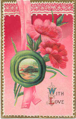 Primary image for With Love My Valentine 1912 Vintage Post Card