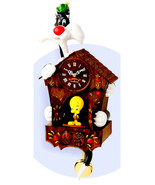 Looney Tunes WB  Sylvester Cat Tweety Bird Animated Talking Cuckoo Wall Clock - $388.49