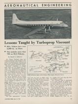 1952 Aviation Article Vickers Viscount Test by British European Airways BEA - $9.99