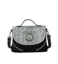 Montana West Tooling Collection Messenger Bag-Grey - $44.54