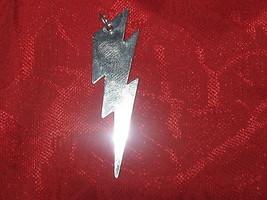 NEW 45MM UNIQUE SHINY SILVER STEEL LIGHTNING BOLT PENDANT CHARM NECKLACE - $9.89