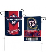 "Washington Nationals World Series Champions Garden Flag 12.5"" x 18"" - $9.99"