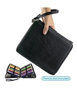 YOUSHARES 120 Slots Colored Pencil Case – Deluxe PU Leather Pencil Holde... - $19.92