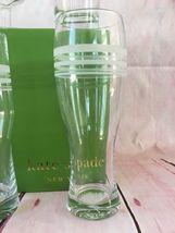 KATE SPADE NIB SET OF 4 ASSORTED BEER GLASSES SET OF 4 LIBRARY STRIPE LENOX image 3