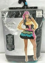 Adult Women's Large 5 Piece Colorful Mystifying Gypsy Halloween Costume - $21.03