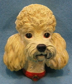 BOSSONS CHALKWARE BLONDE POODLE HEAD