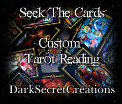Custom Tarot Reading, Sent Via PDF, In Depth Psychic Tarot Reading - $5.00
