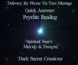 Fast Answers ~ Psychic Reading Via Text Message & via PDF ~ Same Day Psy... - $5.00