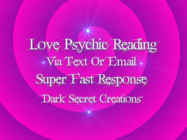 Love Psychic Reading One Question Via Text Or Email PDF, Same Day Psychi... - $5.00