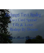 Archangel Tarot Reading Two Card Spread, Life A... - $15.00