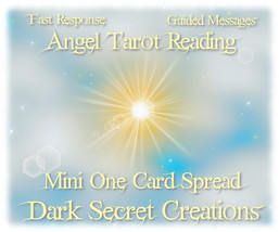 Angel Tarot Reading, Mini One Card Spread, Fast... - $5.00