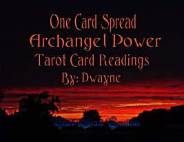 One Card Spread Archangel Power Tarot Reading, ... - $10.00