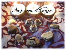 Answer Stone Reading, Yes/No Question Reading, Psychic Stone Reading Sen... - $5.00+