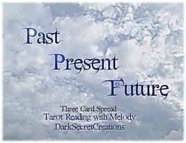Three Card Spread Angel Tarot Reading, Past Pre... - $15.00