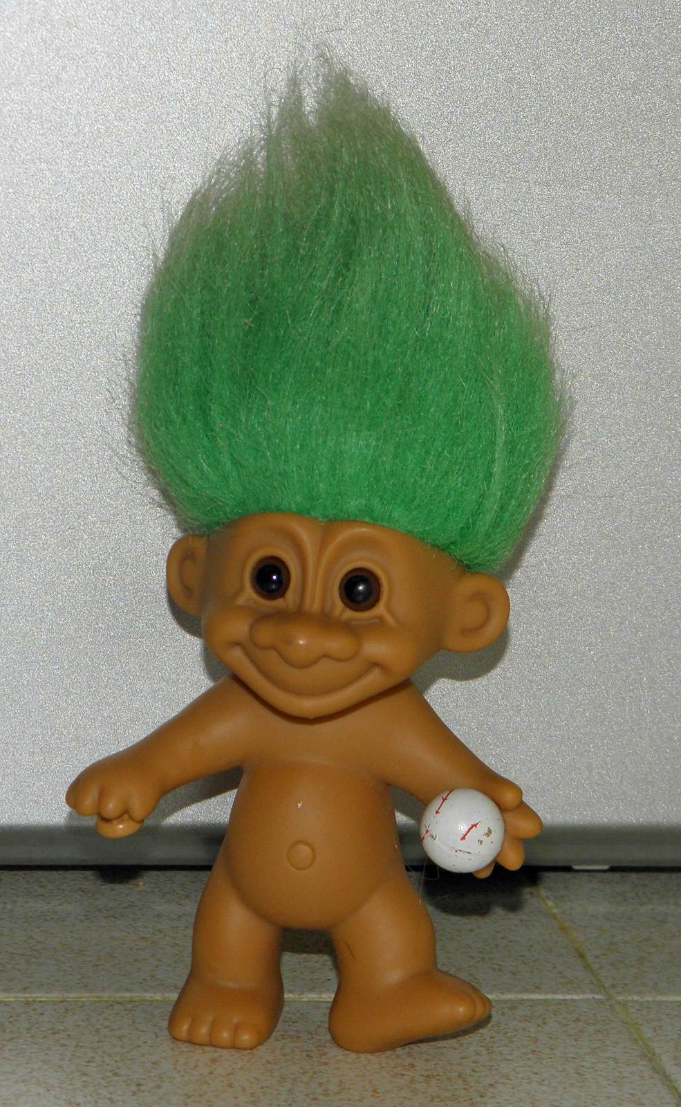 Primary image for Russ Green Hair Troll with Baseball