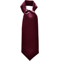 New Men's 100% Polyester solid Ascot Cravat Only Wedding Prom  Eggplant - $12.50