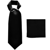New polyester solid color men's ASCOT cravat necktie set wedding prom  B... - €12,33 EUR