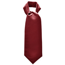 New Men's 100% Polyester solid Ascot Cravat Only Wedding Prom  Burgundy - $12.50