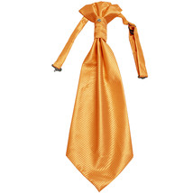 New 100% Polyester Men's Horizontal Stripes Ascot Cravat Only Wedding Prom  Gold - $12.50
