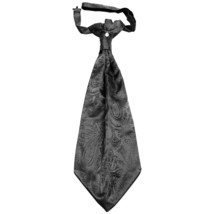 New 100% Polyester Men's Paisley Ascot Cravat Only Prom formal  Dark Gray - $12.50